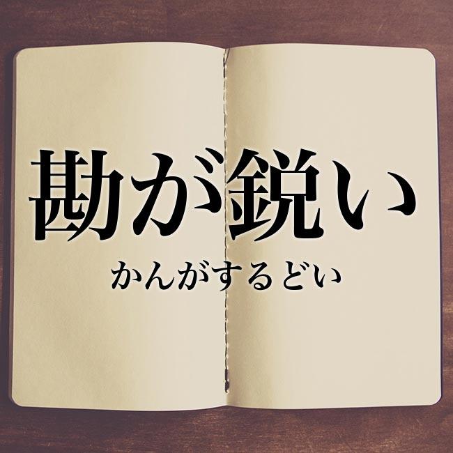 勘が鋭い」の意味・読み方・類語【使い方や例文】 | Meaning-Book