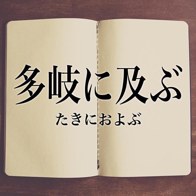 多岐に及ぶ」とは?意味や類語!例文や使い方! | Meaning-Book