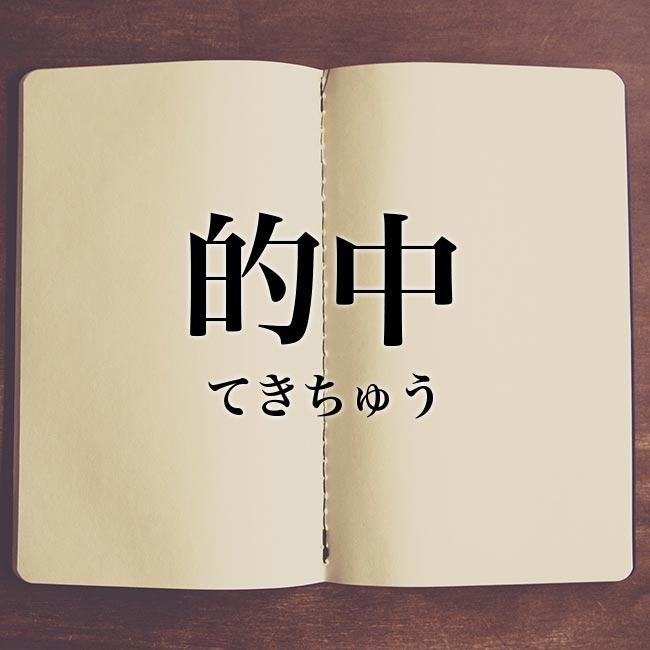 的中」とは?意味や類語!例文や表現の使い方   Meaning-Book