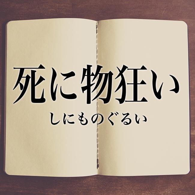 死に物狂い」とは?意味や使い方!例文や解釈 | Meaning-Book