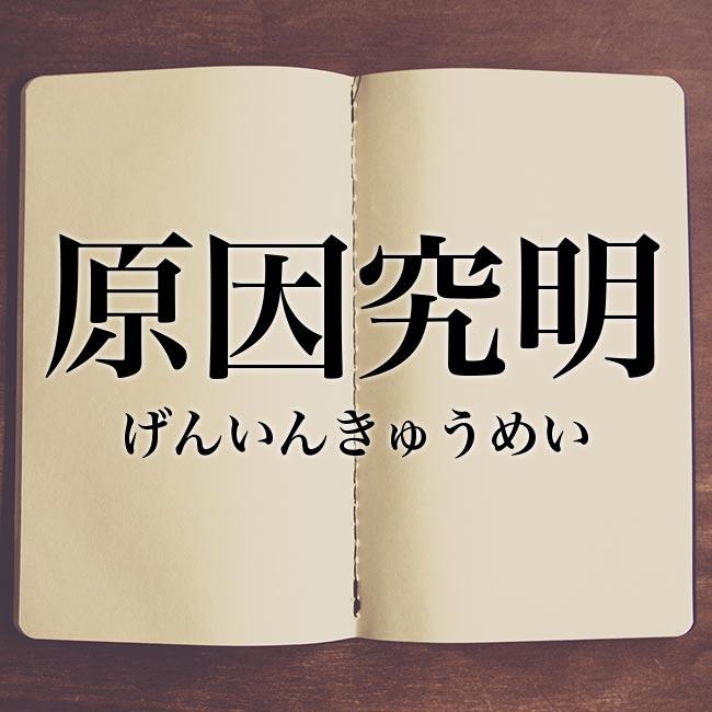 原因究明」とは?意味や言い換え!例文と解釈 | Meaning-Book