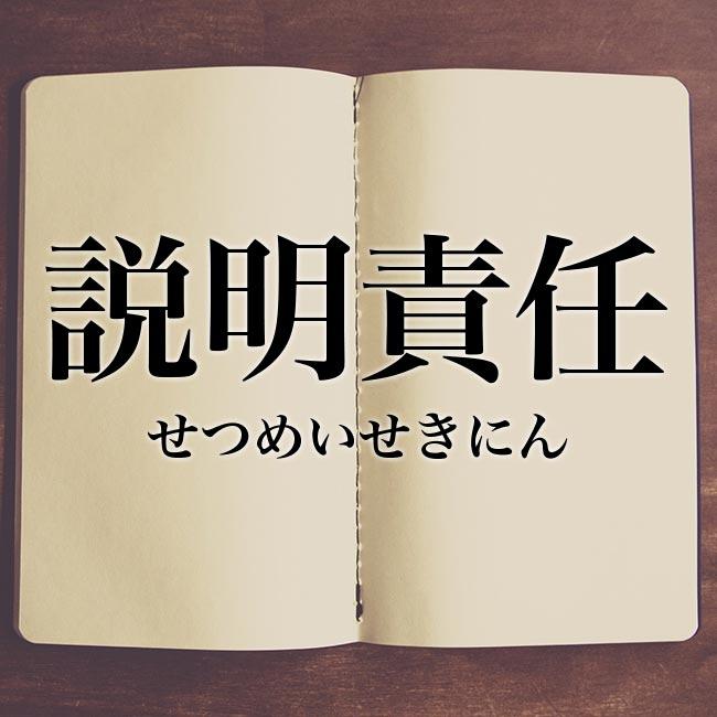 説明責任」とは?意味や言い換え!例文と解釈 | Meaning-Book