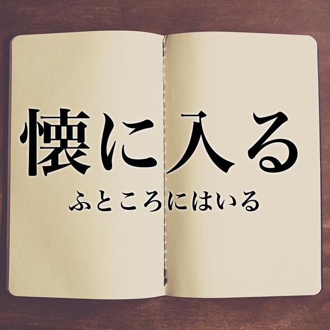 懐に入る」の意味とは!類語や概要 | Meaning-Book