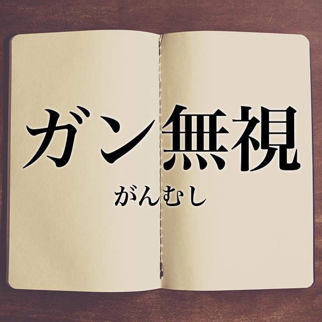 ガン無視」とは?意味や読み方・似た言葉も合わせて解説! | Meaning-Book