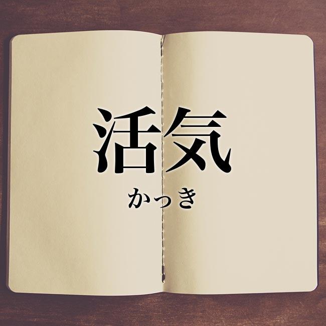 活気」の意味とは!類語や例文など詳しく解釈 | Meaning-Book