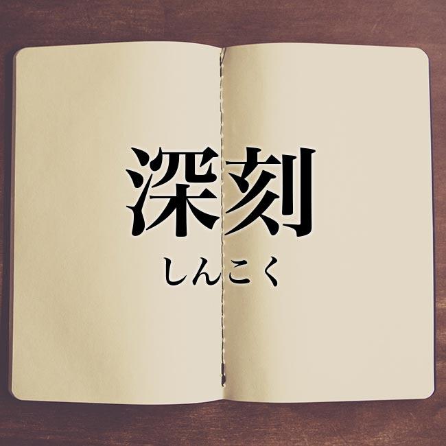 深刻」とは?意味や使い方!例文や解釈   Meaning-Book