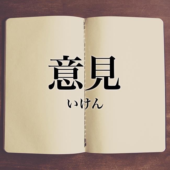 意見」とは?意味や使い方!例文や解釈 | Meaning-Book