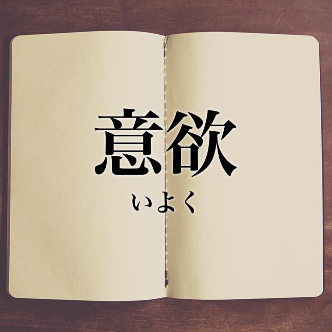 意欲」とは?意味や使い方!例文や解釈 | Meaning-Book