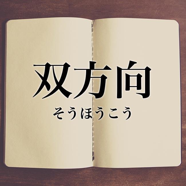 双方向」の意味とは!類語や例文など詳しく解釈 | Meaning-Book