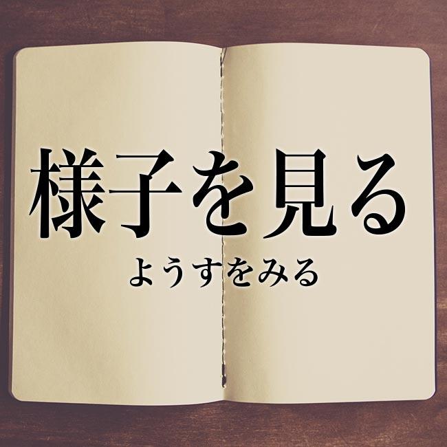 様子を見る」の意味とは!類語や例文など詳しく解釈 | Meaning-Book